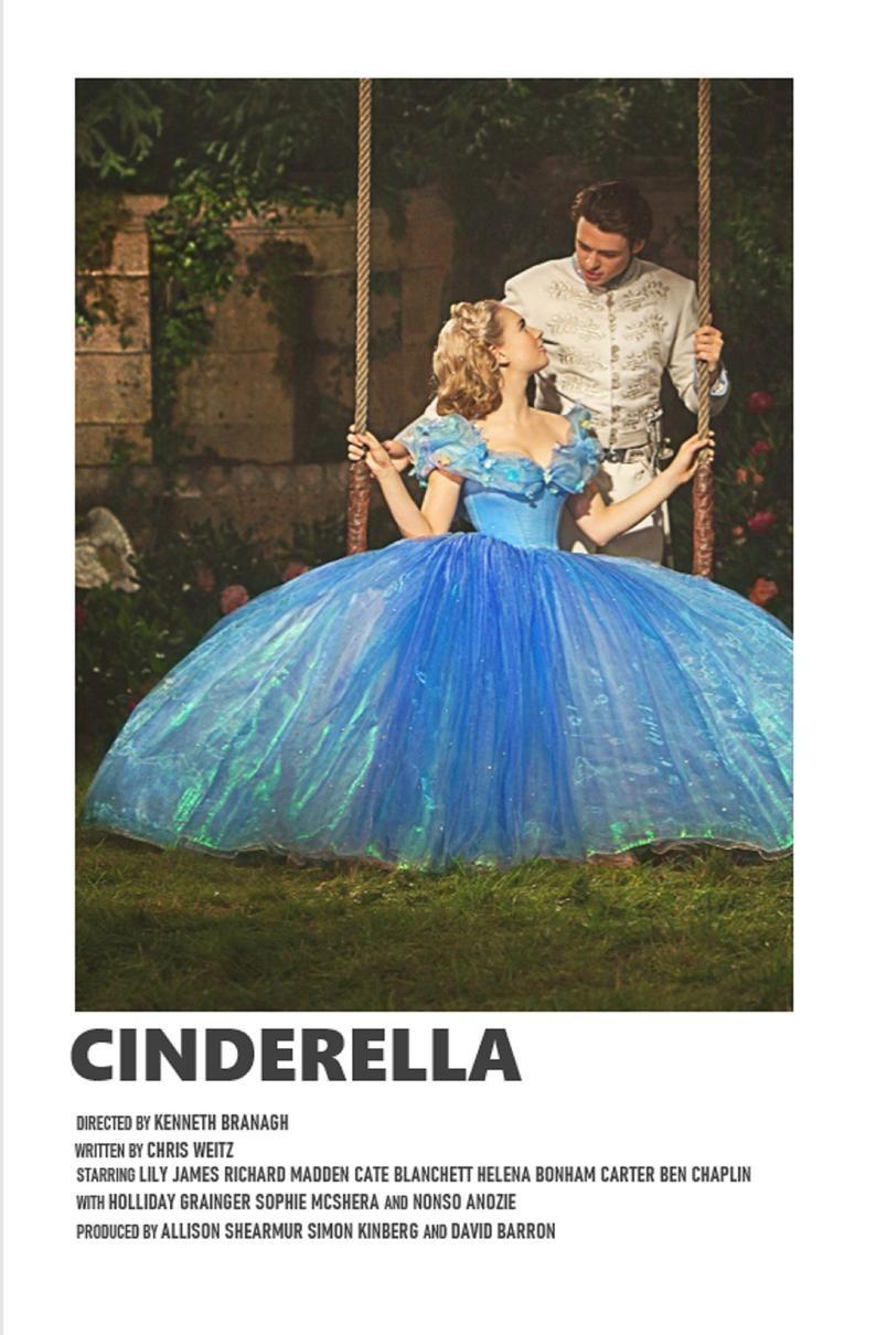 Cinderella minimal A6 movie poster