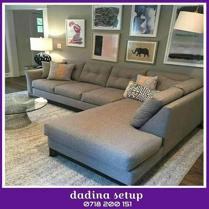 Sofa 820000 Inapatikana Kwa Kila Rangi Unayo Hitaji 0718200151 Tupo Tabata Mawenzi Pi Small Living Room Layout Sectional Sofa Decor Small Living Room Design