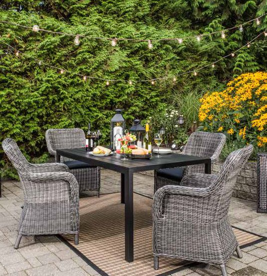 Chicago Table Sacramento Chairs Jysk H S Lauren Petroff And Joel Bray Show Off The Latest Outdoor Furniture Accessories Available At