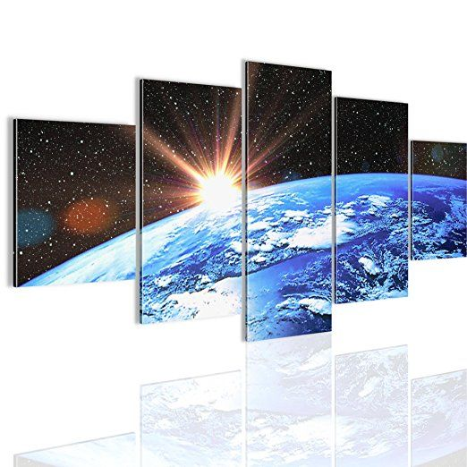 Bilder Blaue Erde Wandbild Vlies - Bilder Erde Weltall bilder