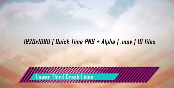 Motion Graphics - Lower Third Crash Lines | VideoHive