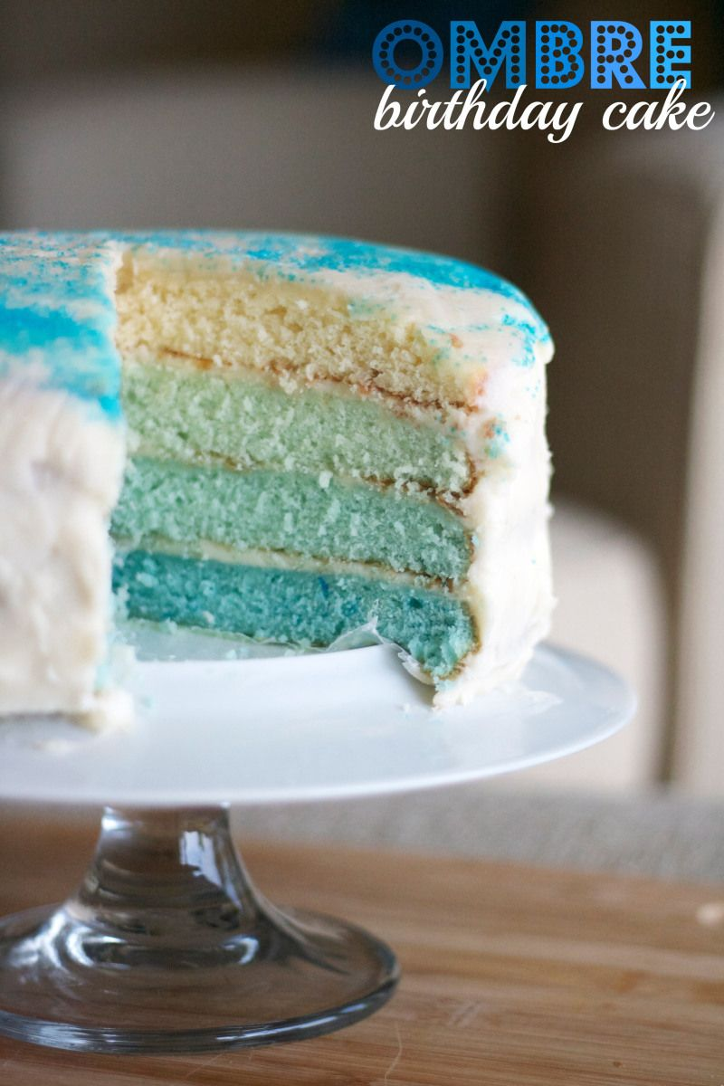 Blue Ombre Birthday Layer Cake Recipe Simply Social Blog To Cook