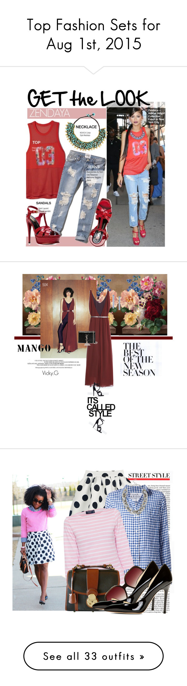 """""""Top Fashion Sets for Aug 1st, 2015"""" by polyvore ❤ liked on Polyvore"""