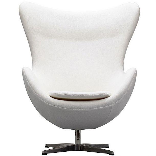 The Egg Lounge Chair White Wool Memoky Com Egg Chair Arne Jacobsen Egg Chair Futuristic Furniture