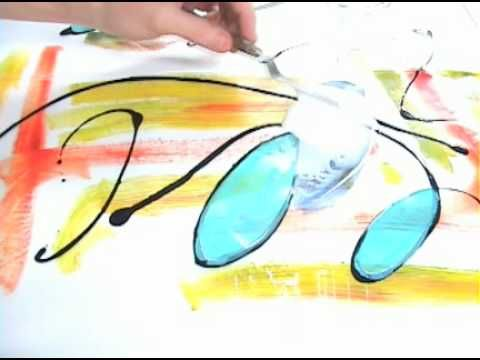 Creating a 'Dry Monotype' #DIY #getcreative #adelinecrafts