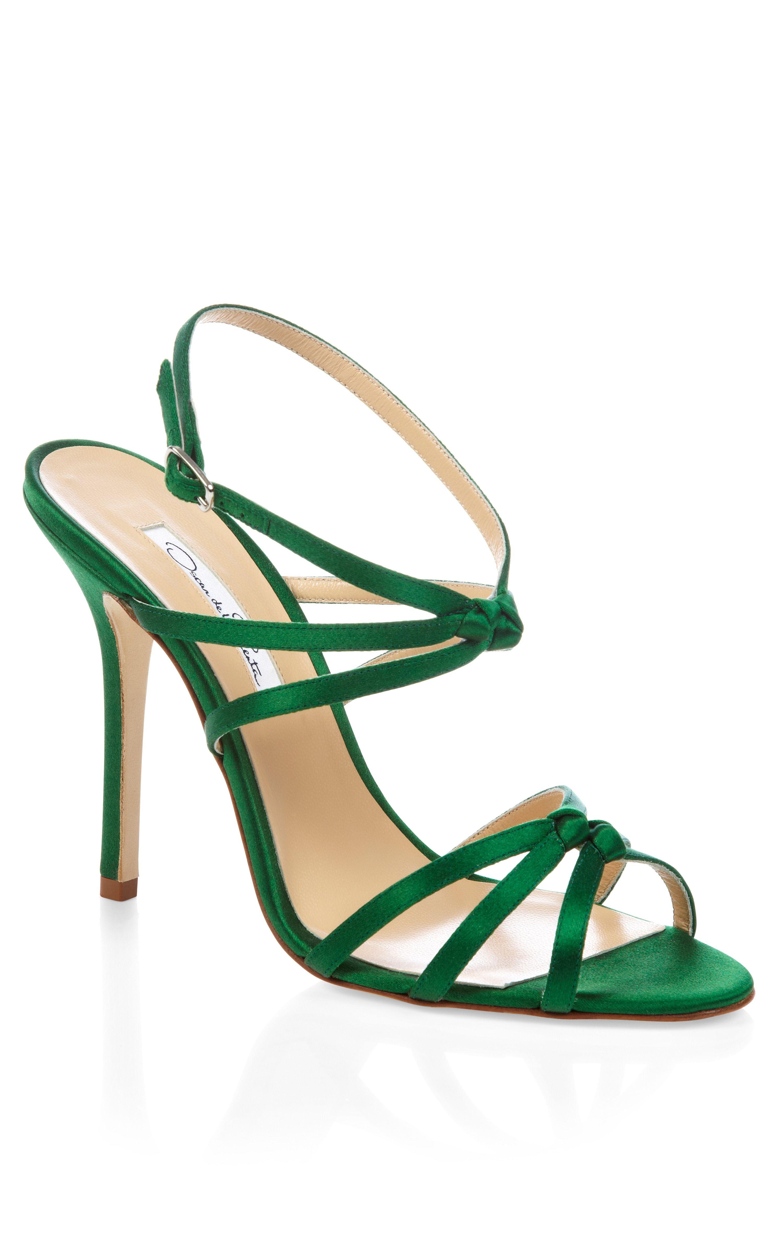 Strappy Green Heels  Tsaa Heel
