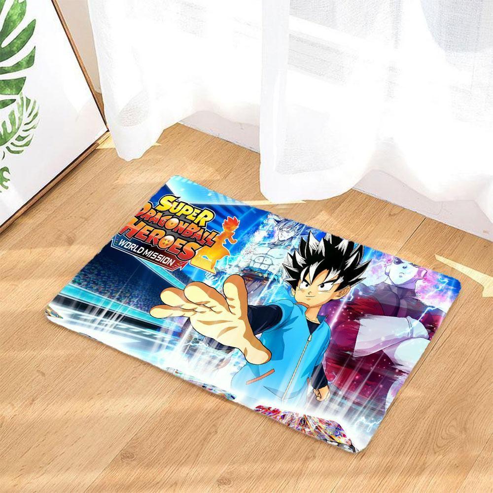 Super Dragon Ball Heroes Fussmatte Badematte Rutschfest Und Waschbar Badezimmer Teppich Bath Mat Rugs Home Decor