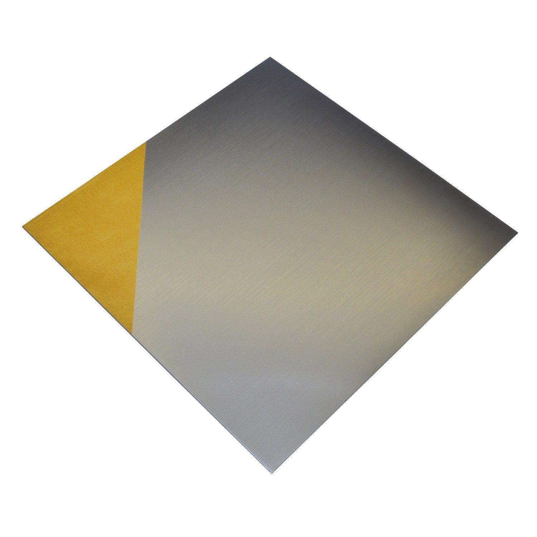 Lot De 2 Plaques Adhesive Pvc Lisses Mat Argent L 30 X L 30 Cm Ep 0 1 Mm Alfer Tole Aluminium Pvc Et Acier