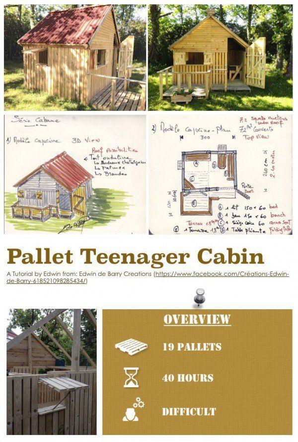 Diy Pdf Tutorial Pallet Teenager Cabin 1001 Pallets Free