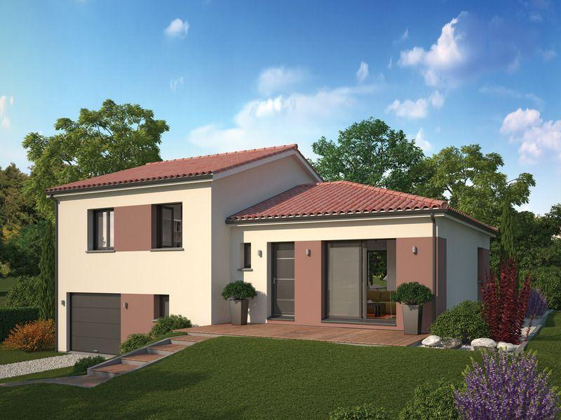 Programme immobilier neuf à La Ricamarie (42150) MAISON \ PENTE - plan maison demi sous sol