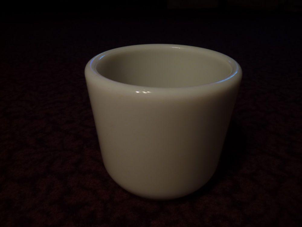 Vintage Corning Milk Glass Handleless Navy Watch Mug ~ Shaving Coffee Warmer ~   Coffee warmer ...