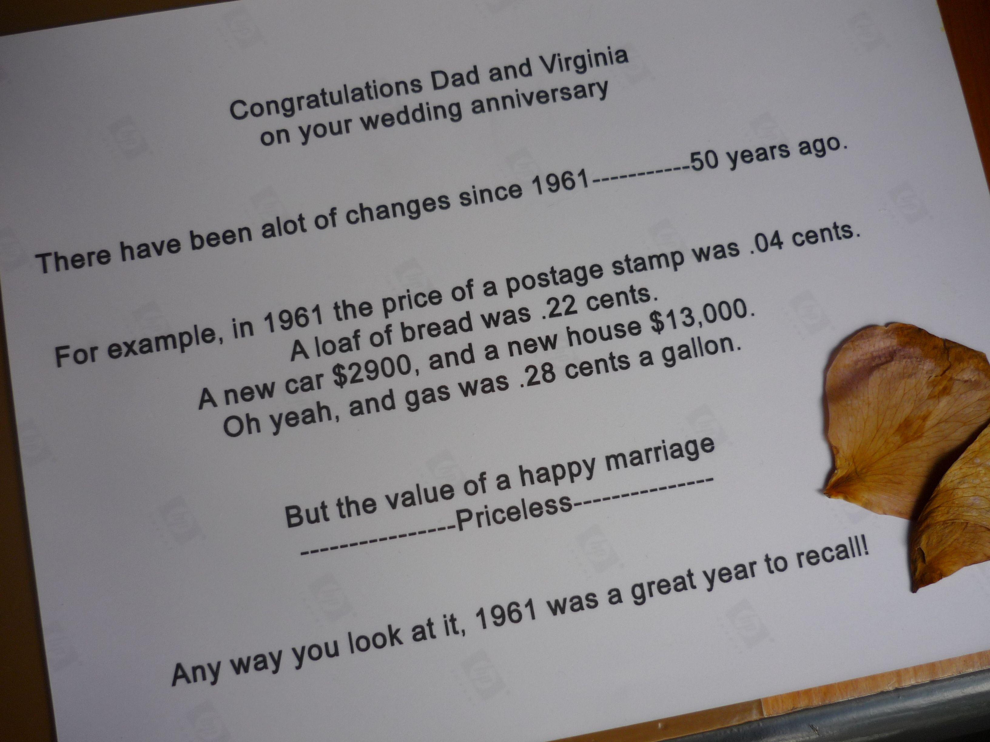 50 yr wedding anniversary toast