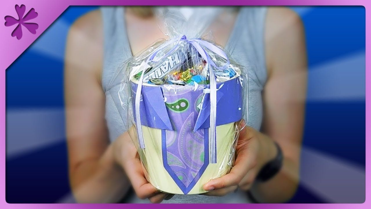 Diy flowerpot full of candy fathers day gift eng