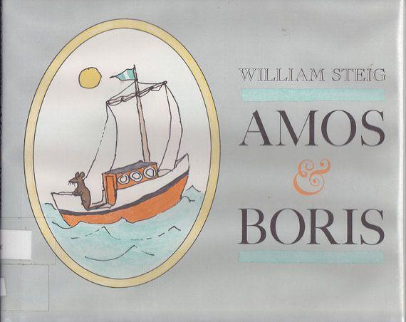 William Steig vintage kids book Amos and by OnceUponABookshop, $6.50
