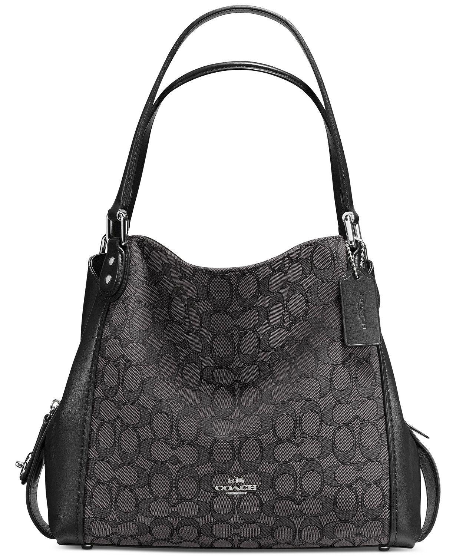 Coach Signature E Shoulder Bag 31 In Jacquard Macys