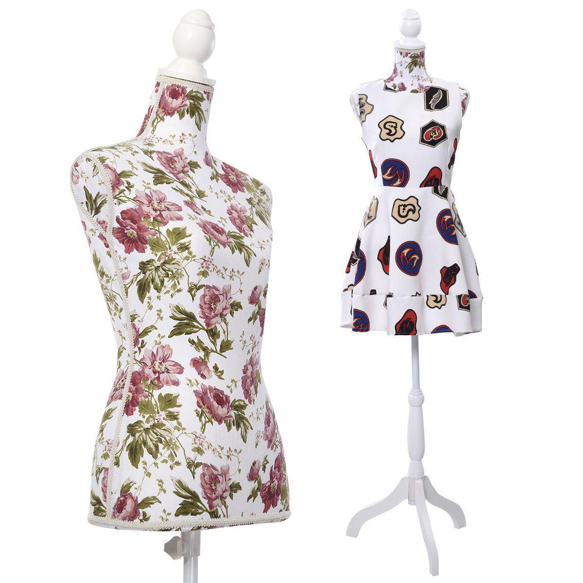 Goplus female mannequin torso dress form display w white