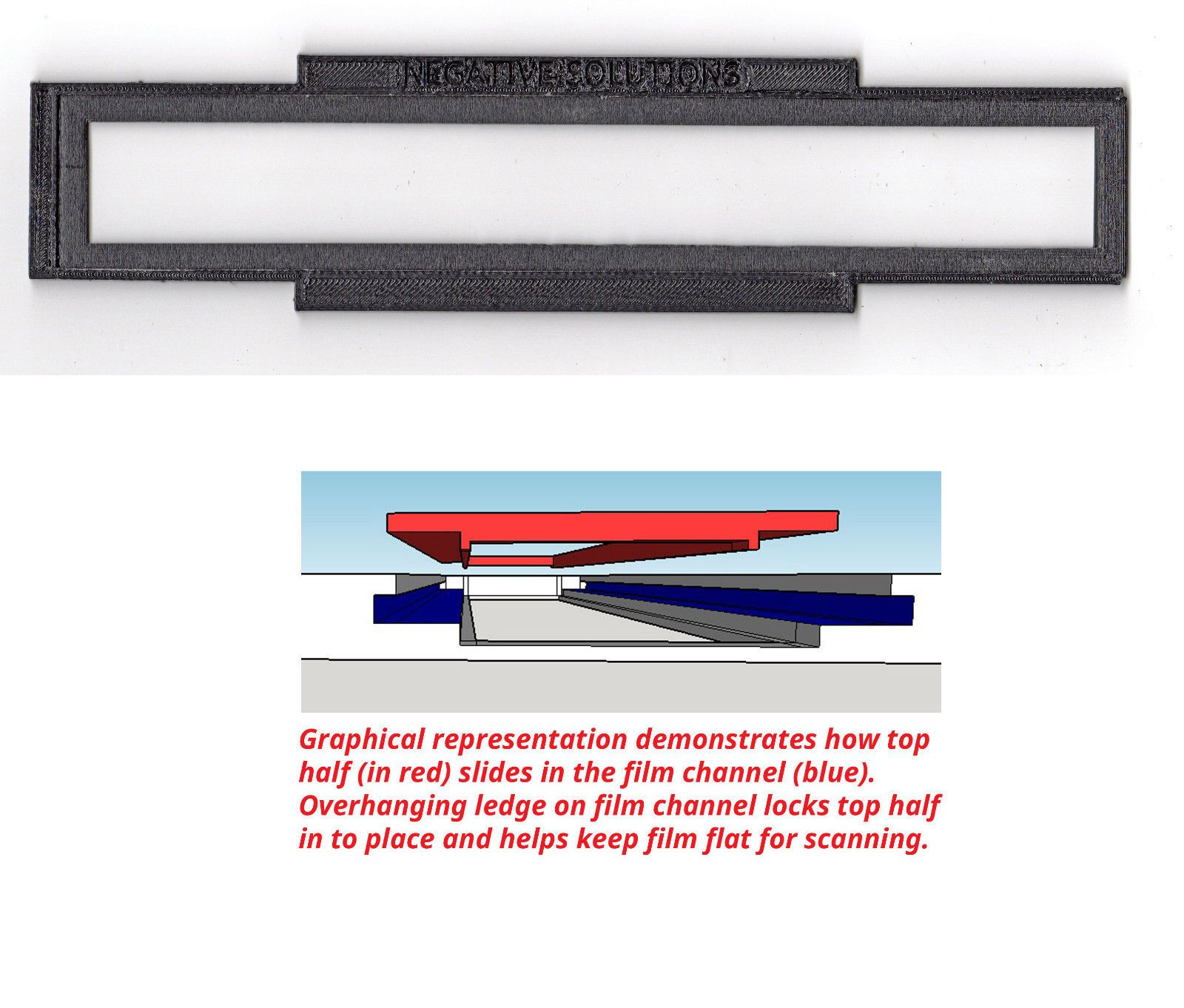 Epson APS film holder//adapter for select Canon HP Film Scanners