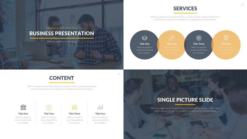 The Best Free Powerpoint Templates To Download In 2019 Graphicmama Blog Business Presentation Powerpoint Templates Presentation Template Free