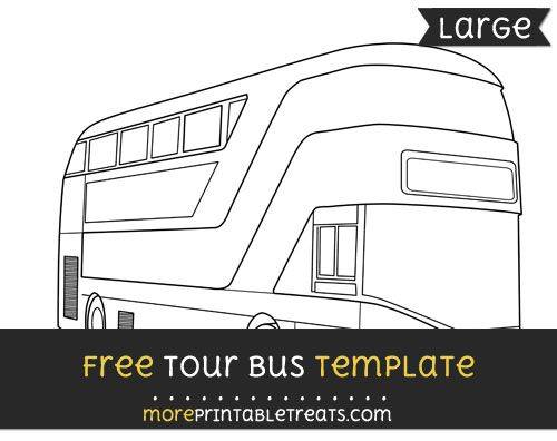 Free Tour Bus Template Large Shapes And Templates Printables