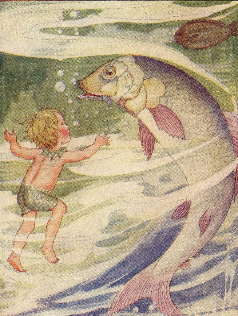 """by Anne Anderson, from """"The Water Babies""""."""
