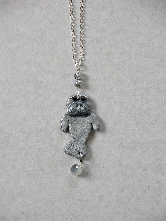 Smaby II Manatee Necklace on Etsy, $20.00