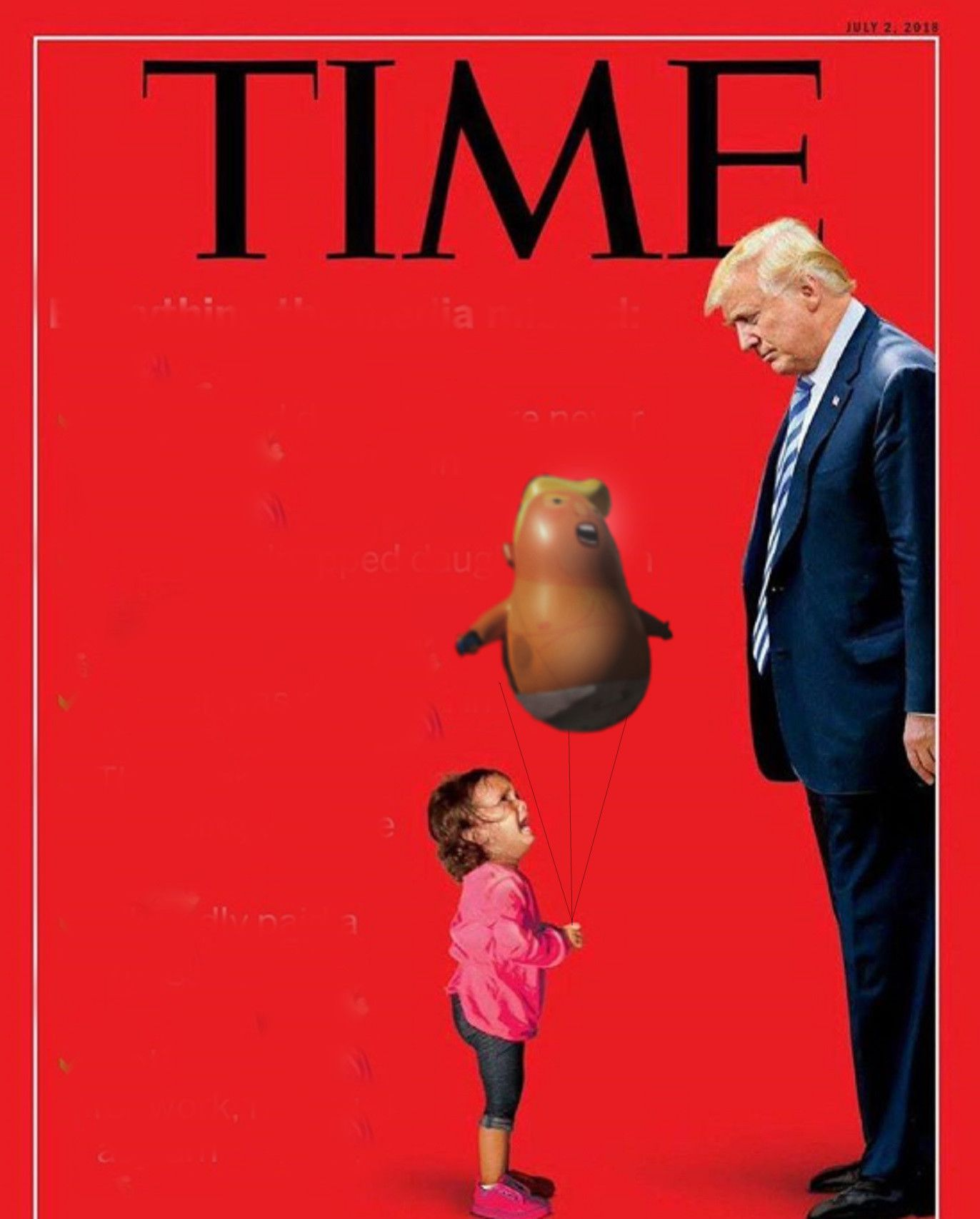 Time Mag Cover With Trump Baby Balloon Trump Baby Time Magazine Baby Balloon