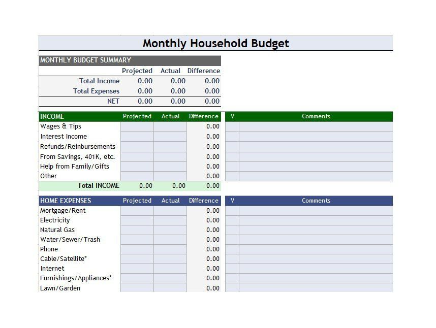 Download Budget Template 14 Budgeting Pinterest Budgeting