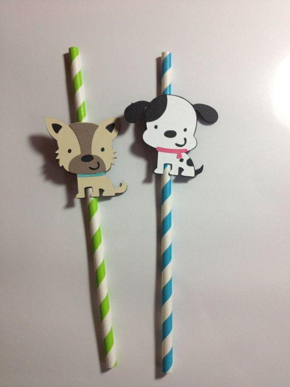 dog party straws