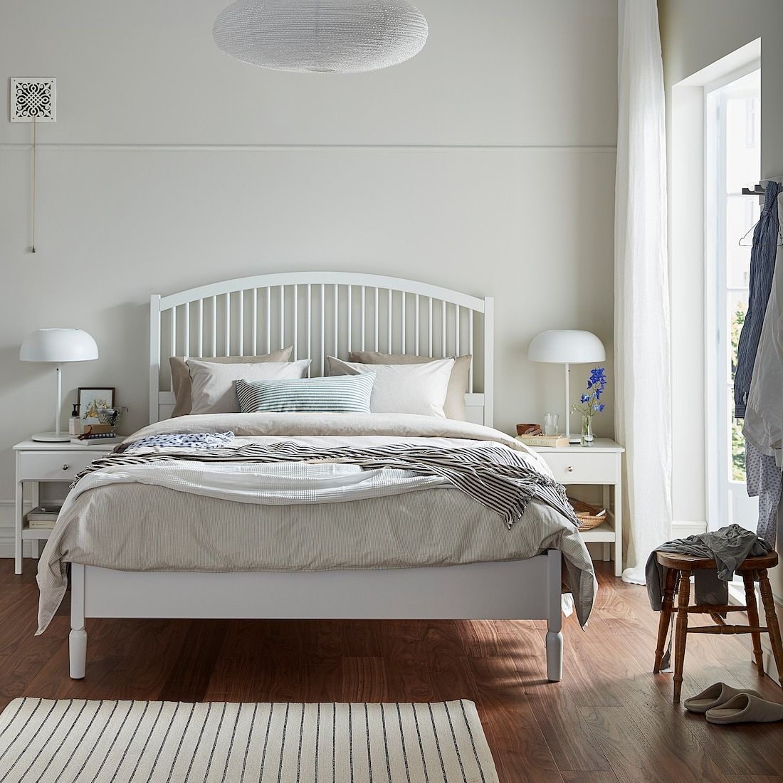 IKEA TYSSEDAL White, Luröy Bed frame in 2020 Bed frame