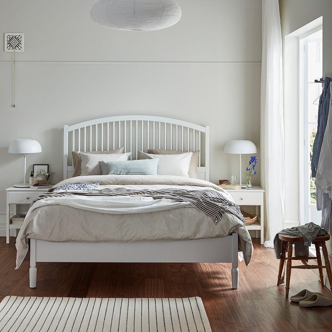 Tyssedal Bedframe Wit 160x200 Cm Ikea White Bed Frame Bed Frame Ikea Tyssedal