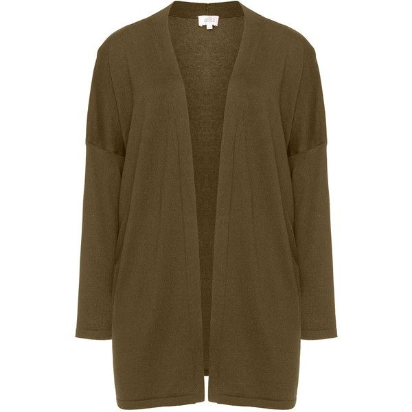 Amber and Vanilla Khaki-Green Plus Size Cashmere and cotton ...