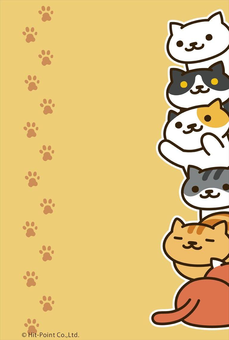 Cute Kittens Everwing Wallpaper In 2019 Neko Atsume