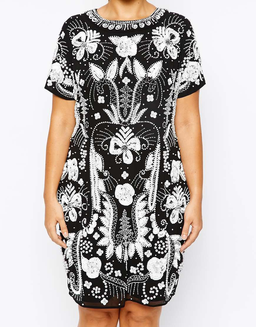 Heavily Embellished Mono Shift Dress that is awesome to wear for parties, family gathering or to go out! Must have for Spring/ Summer of 2015.