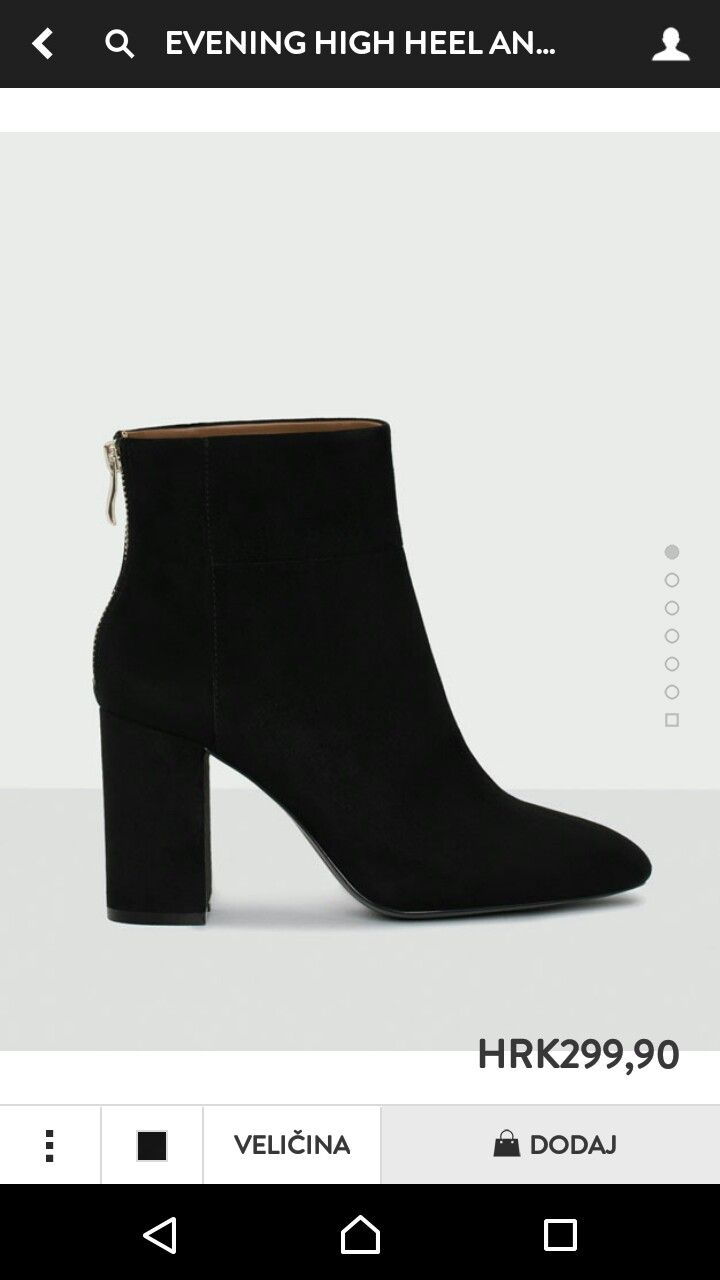 High heel boots ankle, Black ankle boots
