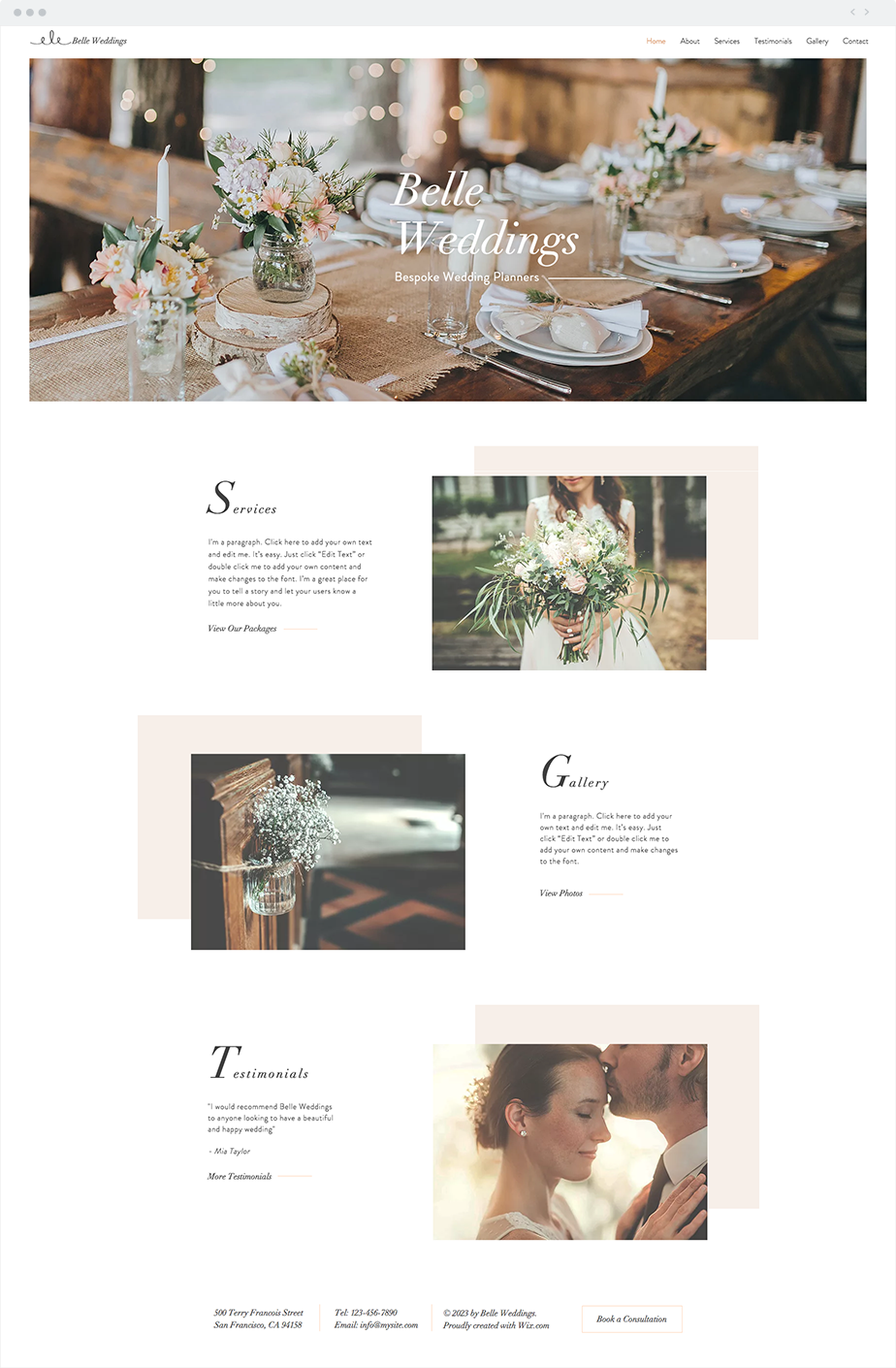 Wedding Planner Website Template Wedding Planner Website Wedding Web Wix Templates