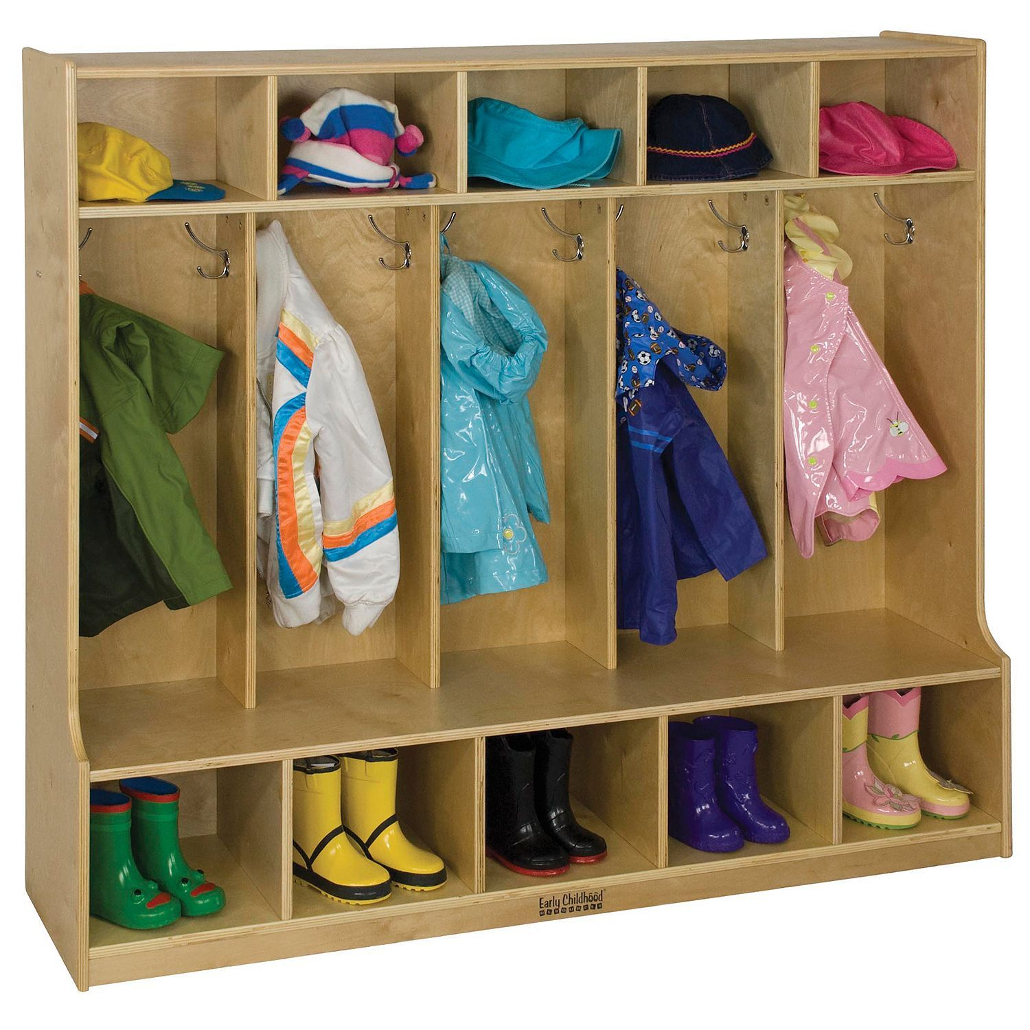 Buy For Garage Kids Organizer For Coasts And Winter Clothes 5 Section Coat Locker W Built In Bench Sam S Club Locker Storage Cubbies Ecr4kids