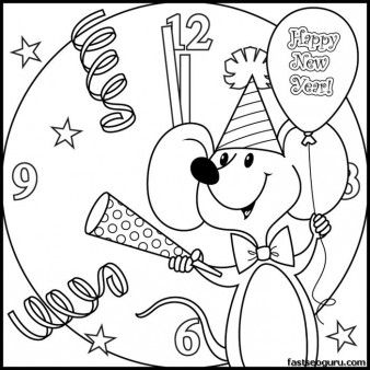 Printabel Coloring Pages New Year Mouse Printable Coloring Pages For Kids New Year Coloring Pages Christmas Coloring Pages Coloring Pages