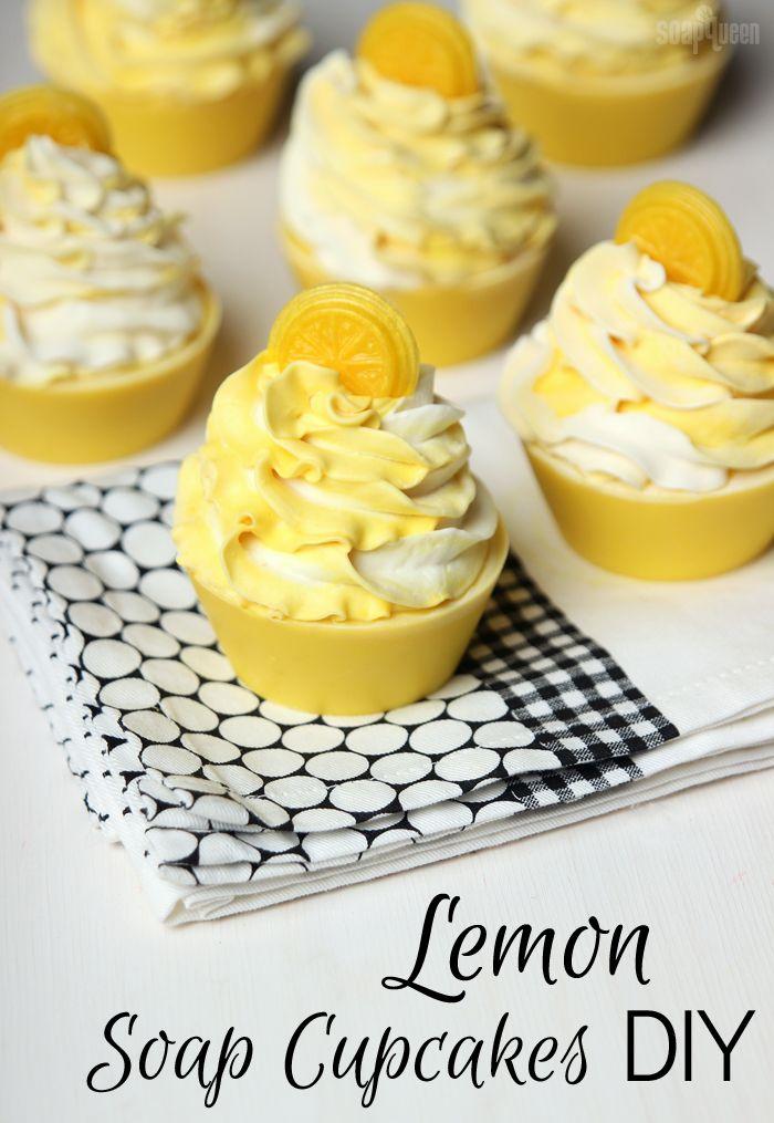 Lemon Soap Cupcakes DIY