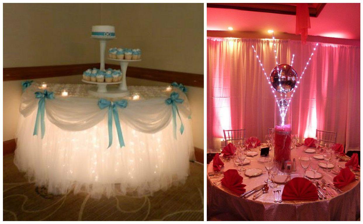16 centros de mesa e ideas de decoraci n para fiesta de 15 for Decoraciones para 15 anos modernas