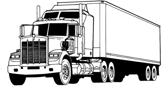 finest truck coloring pages | Truck coloring pages, Semi ...