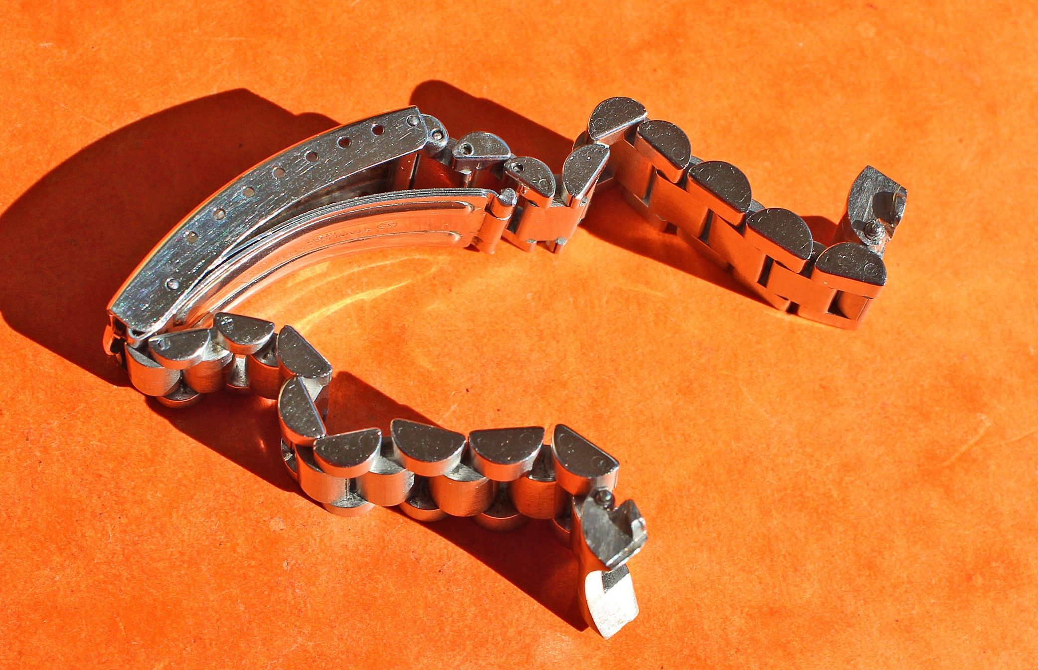 Omega Rare vintage Speedmaster Moonwatch bracelet ssteel 20mm ref. 1450 / 808 - Super Rare ! - CHRONO-SHOP