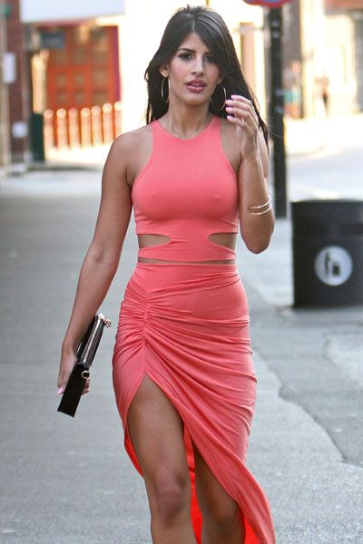 Jasmin Walia in Tight Dress - GotCeleb - Celebrity Fashion Trends