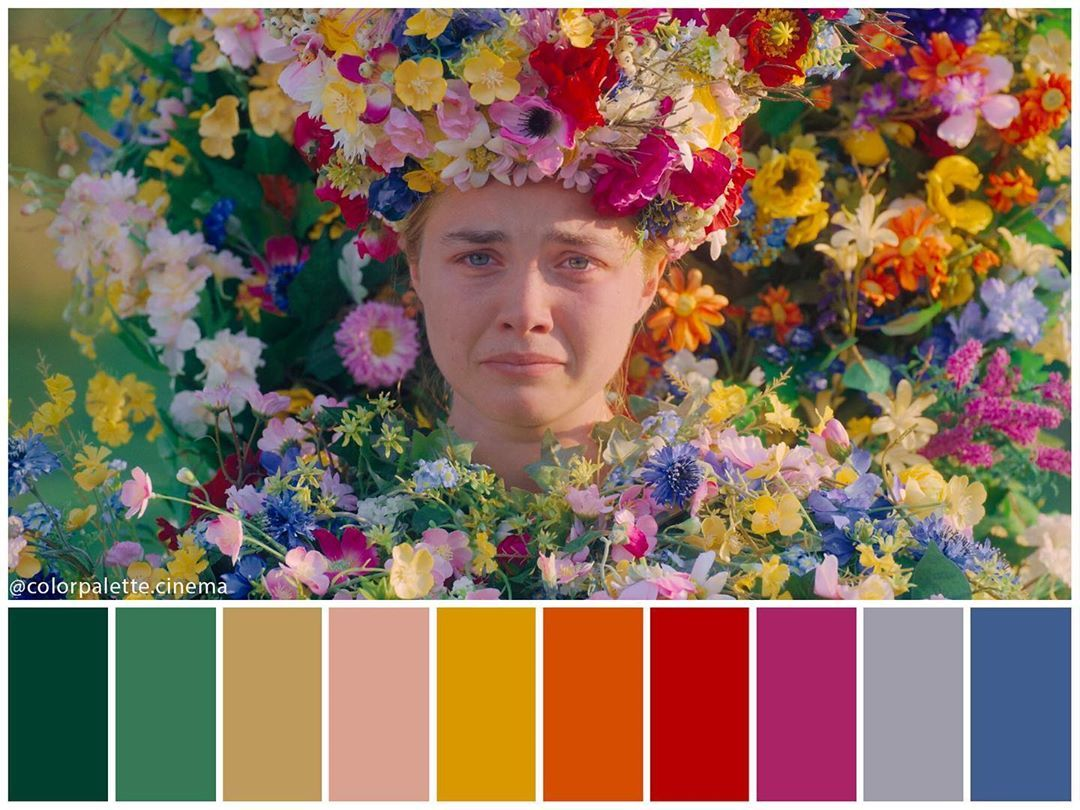 """Color Palette Cinema on Instagram: """": """"Midsommar"""" (2019). •Directed by Ari  Aster •Cinematography: Pawel Pogorz… in 2020   Movie color palette, Cinema  colours, Color in film"""