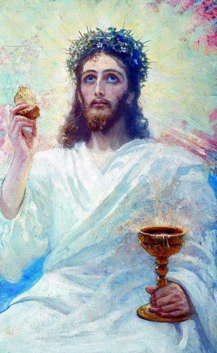 Христос с чашей. 1894. Илья Ефимович Репин