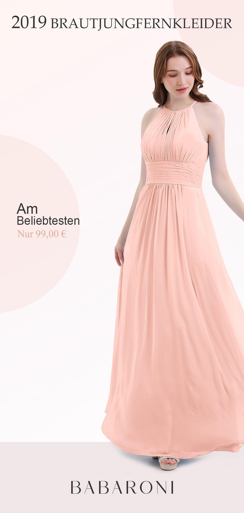 Neckholder lange Chiffon Kleid mit Gefaltet Taille