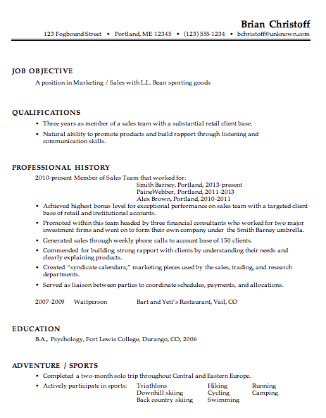 Sales And Marketing Cover Letter Awesome An Effective Chronological Resume Sample  Httpwww.resumecareer .