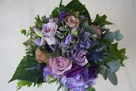 purple hydrangea and leaves bouquets - Google Search