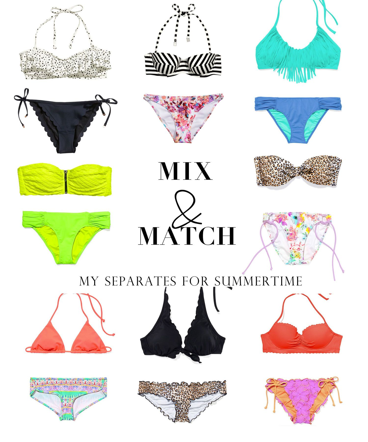 bathing suit mixing and matching