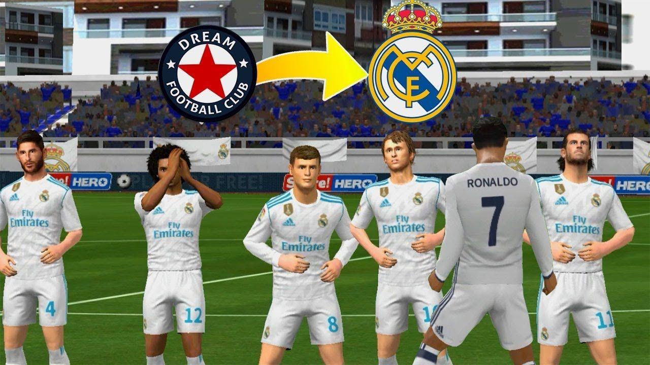 Create Real Madrid Team Kit Logo Players Dream League Soccer 2018 Spor