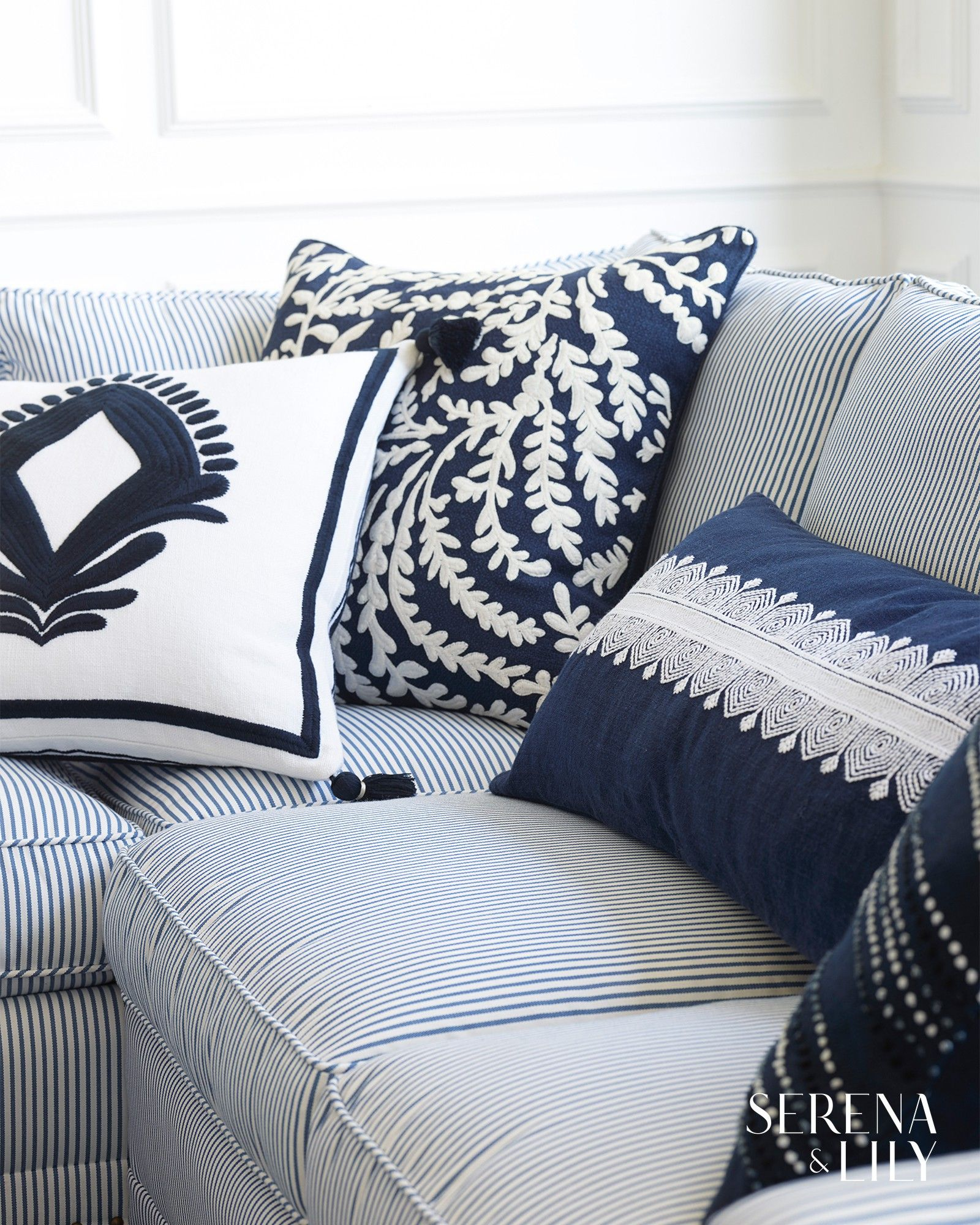 Elegant And Textural Our Navy Blue Throw Pillow Is The Perfect